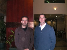 At the Sulimania Palace Hotel in Kurdistan, January 2005 with my Kurdish engineer and friend Karzan. The Palace Hotel in Kurdistan was a mainstay for Westerners and foreigners in Sulimania. Able to drink beer in the hotel restaurant, use wi-fi and watch Seinfeld (subtitled in Kurdish) the dissonance in the realities of Iraq could be overwhelming. The Palace was the scene of a modern Great Game, with Americans, Brits, Russians, Turks, Chinese, Koreans and others filling the rooms. Many of them were oil and gas representatives, others were intelligence officers, and some were both.
